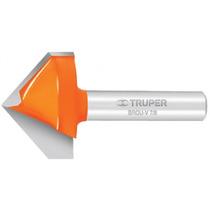 Fresa Broca Corte En V Para Router 3/8 X 1/2 Truper 11465