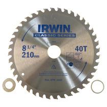 Disco De Sierra Para Madera 8 Y 40d 16mm Irwin Modelo 15181
