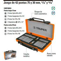 Juego De 42 Puntas Para Matraca 1/2 Y 3/8 Truper 17809