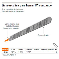 Lima Escofina Para Herrar De 14 . Truper