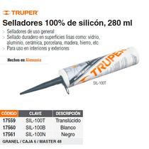 Sellador Negro 100% De Silicon 280 Ml
