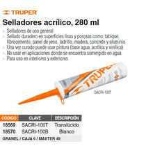 Sellador Acrilico 280 Ml Blanco