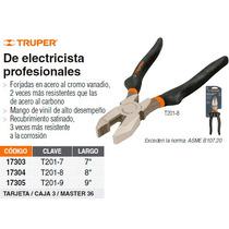 Pinza Profesional Para Electricista 9 Mango De Vinil