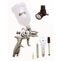 Kit Pistola De Gravedad Y Regulador Vaso De 600 Ml Punto 1.4