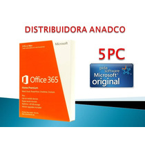 Microsoft Office 365 Home Premium 5 Pc / Mac 1 Año Oficial