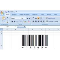 Generador De Códigos De Barras (excel, Word, Access, Etc.)
