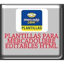 Plantilla Editable Para Mercaodlibre Full Html Con Botones