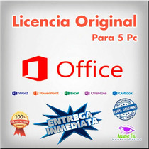 Office Professional Plus 2013 Licencia Original 5 Pc