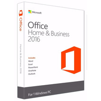 Microsoft Office 2016 Home Business Permanente 1 Equipo