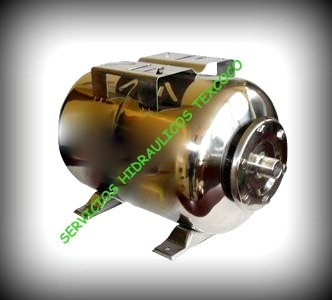 Hidroneumatico ac inox de 50 lts bomba pedrollo tipo jet for Hidroneumatico pedrollo