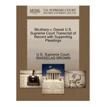 Struthers V. Drexel U.s. Supreme Court, Rasselas Brown