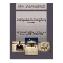 Paddock V. U S U.s. Supreme Court, Jacob I Weinstein