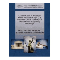 Clarion Corp. V. American Home Products Corp., Paul J Klein