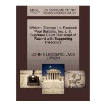 Whitten (george ) V. Paddock Pool Builders,, John E Lecomte