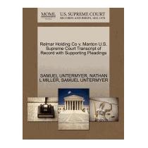 Relmar Holding Co V. Manton U.s. Supreme, Samuel Untermyer
