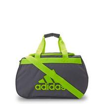 Adidas Bolsa Deportiva Gris C/ Verde Fluo 100% Orig.