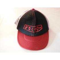Gorra Volcom Roja Y Negra De Red