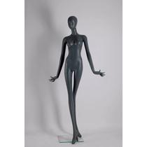 Maniquí Negro Mujer Cuerpo Completo Fibra Vidrio Exhibidor
