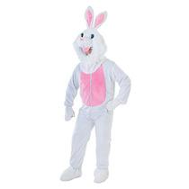 Disfraz De Conejo - Adulto Unisex Big Head Borde De Piel De