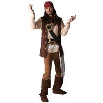 Piratas Traje - Mens Capitán Jack Sparrow Pirata Fantasía