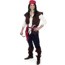 Traje De Pirata De Relaciones Adultas - Jack Sparrow Del Ves
