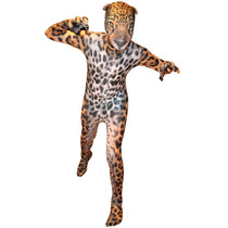 Jaguar Morphsuit Traje - Naranja Xxl Animal Print Spandex