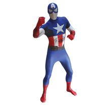 Capitán América Morphsuit - Adultos Xlarge Marvel Comic