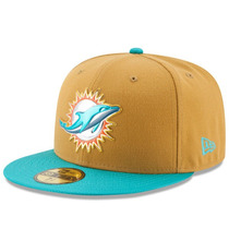 Gorra New Era Miami Dolphins On Field 59fifty Fitted Hat