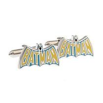 Mancuernillas Logo Retro Batman Plateado Superheroes Camisa
