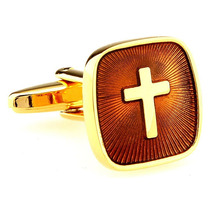 Mancuernillas Cruz Sacerdote Padre Jesus Camisa Traje Acero