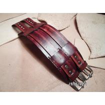 Pulsera Brazalete De Cuero,rockstar Leather