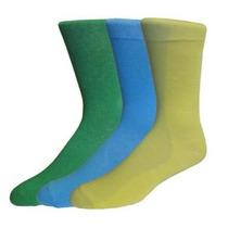 Fine Fit Para Hombre Fancy Color Sólido Algodón Calcetines (
