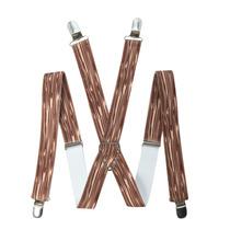 Hot Topic Tirantes Cafes Wood Grain Suspenders Madera