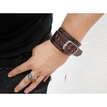 Pulsera De Cuero Rockstar Leather