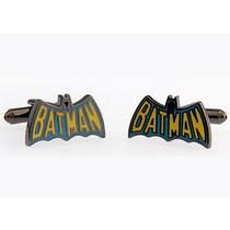 Mancuernillas Logo Retro Batman Superheroes Camisa Traje