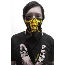 Bandana C/diseño De Máscara De Gas