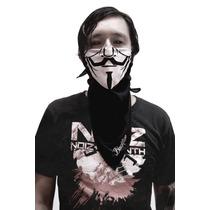 Bandana C/diseño De Máscara De V Por Vendetta