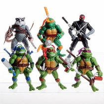 6pcs Lote 5 Teenage Mutant Ninja Turtles Película Del Anima