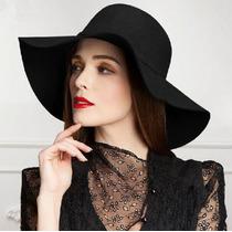 Sombrero Negro De Fieltro Ala Grande Estilo Gotico Lolita