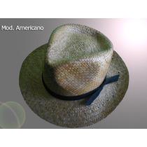 Sombrero Americano Palma De Coco Ala Ancha Lbf