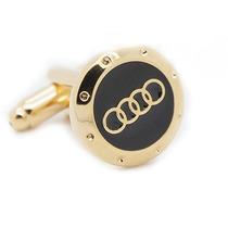 Mancuernillas Audi Logo Automovil Doradas Camisa Traje