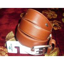 Hermoso Cinturon Lacoste Original Talla 32, Nuevo