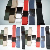 10 Cinturones Militar Reforzado Hebilla Pulida Espejo