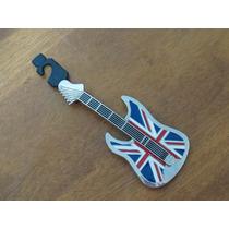 Importada Fina Guitarra Hebilla Pcinturón Bandera Inglaterra