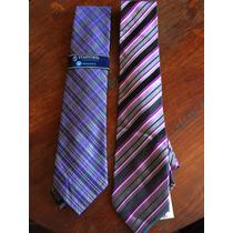Paquete De 2 Finas Corbatas Stafford Tonos Lavanda Y Purple