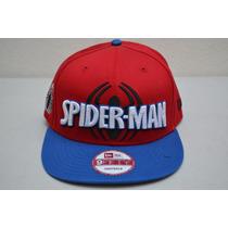 Gorra Spider Man Roja Leyenda Logo Original New Era 9 Fifty