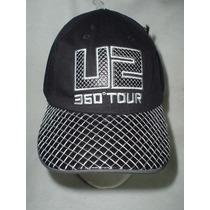Gorra De U2 Original De La Gira 360 Grados Negra
