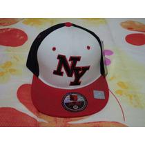 Gorra Negra C/rojo/bco Yankees De Ny Pit Bull M Ajustable