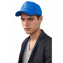 Gorra A | X Armani Exchange Rubber Logo Cap Blue 2016