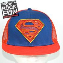 Superman Dc Comics Gorra Flatbill Importada 100% Original 2